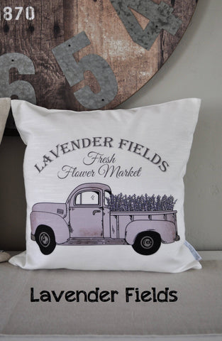 SALE, Lavender Pillow Cover, truck Pillow Cover, Spring pillow cover, Summer Pillow Cover, 18x18