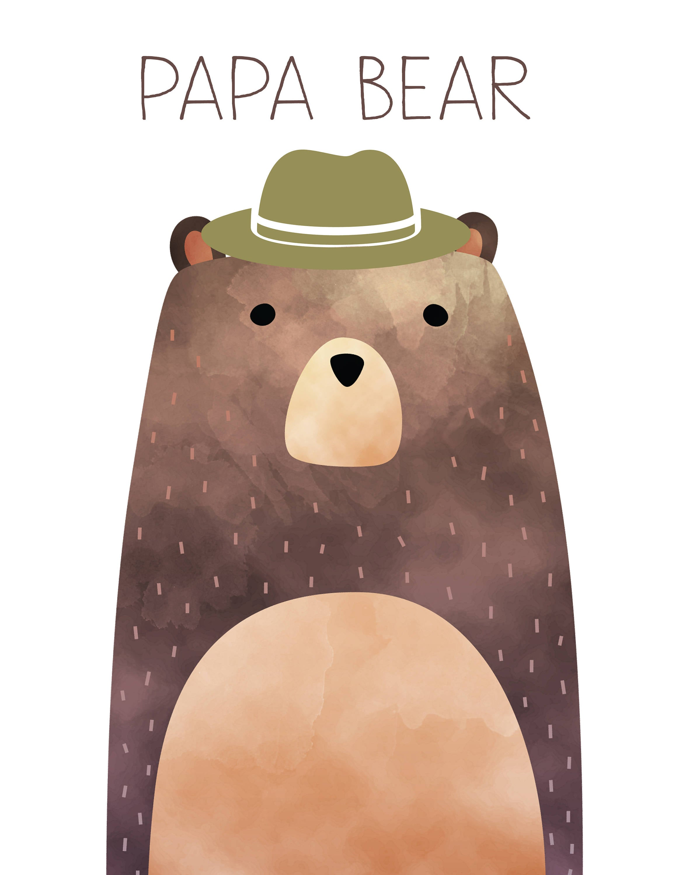 Goldilocks and Three Bears Printables, Nursery Printables, mama bear, papa bear, baby bear