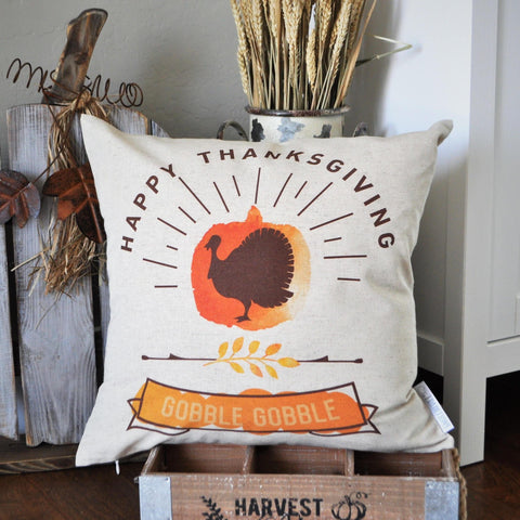 Fall Pillow Cover, Happy Thanksgiving, Fall Decor, Fall pillow, Thanksgiving pillow
