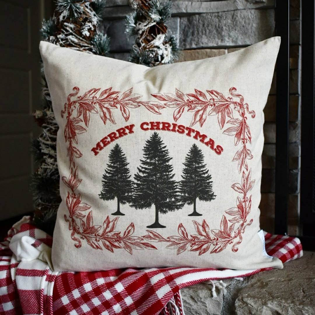 christmas pillow cover christmas decor merry christmas pillow christmas plaid vintage christmas