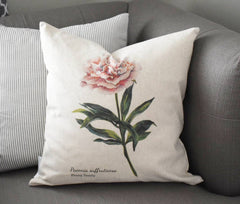 Peony pillow, watercolor peony, Watercolor flower Pillow Cover,  Spring pillow cover, 18x18, Farmhouse pillow cover, botanical