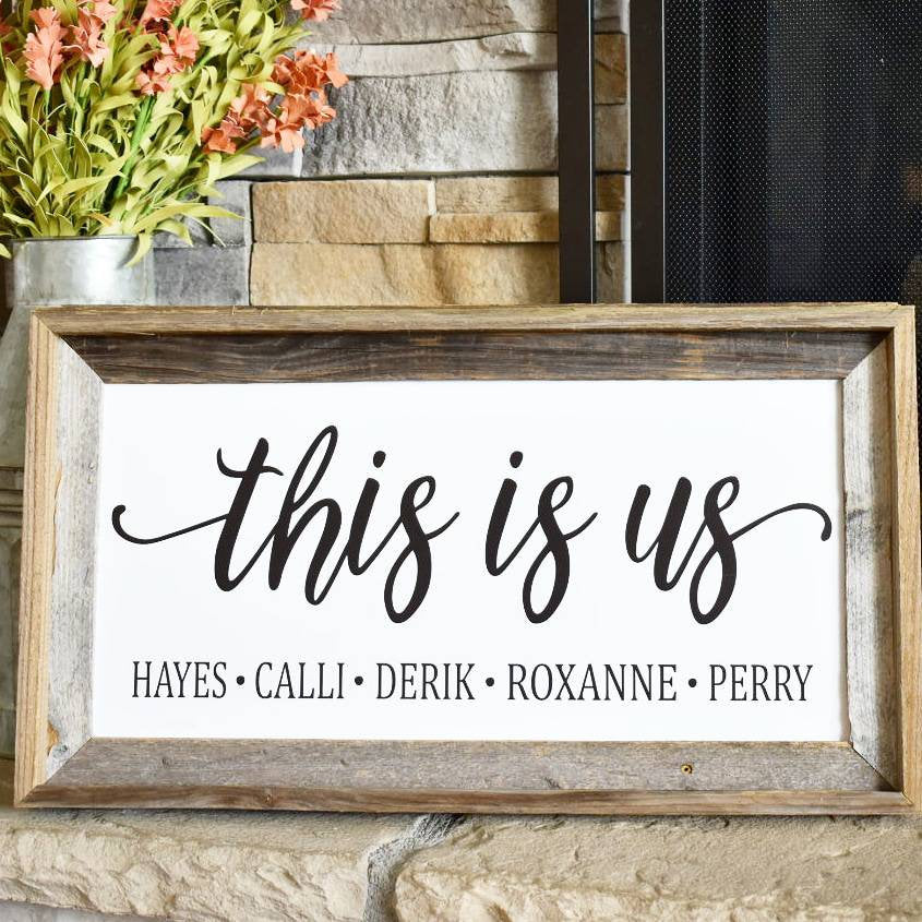 This Is Us This Is Us Personalized Sign 10x20 Or 12x24 Reclaimed