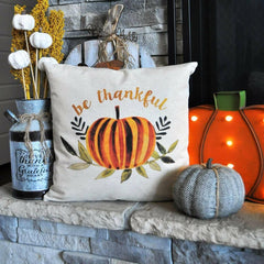 SALE, Fall Pillow Cover, Hello Autumn, Fall Decor, Fall pillow, be thankful, thanksgiving pillow