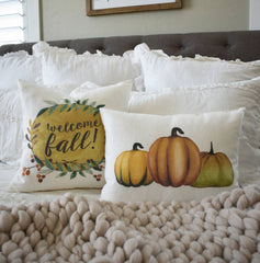 Fall Pillow Cover, pumpkins, pumpkin pillow cover, Fall Decor, Fall pillow