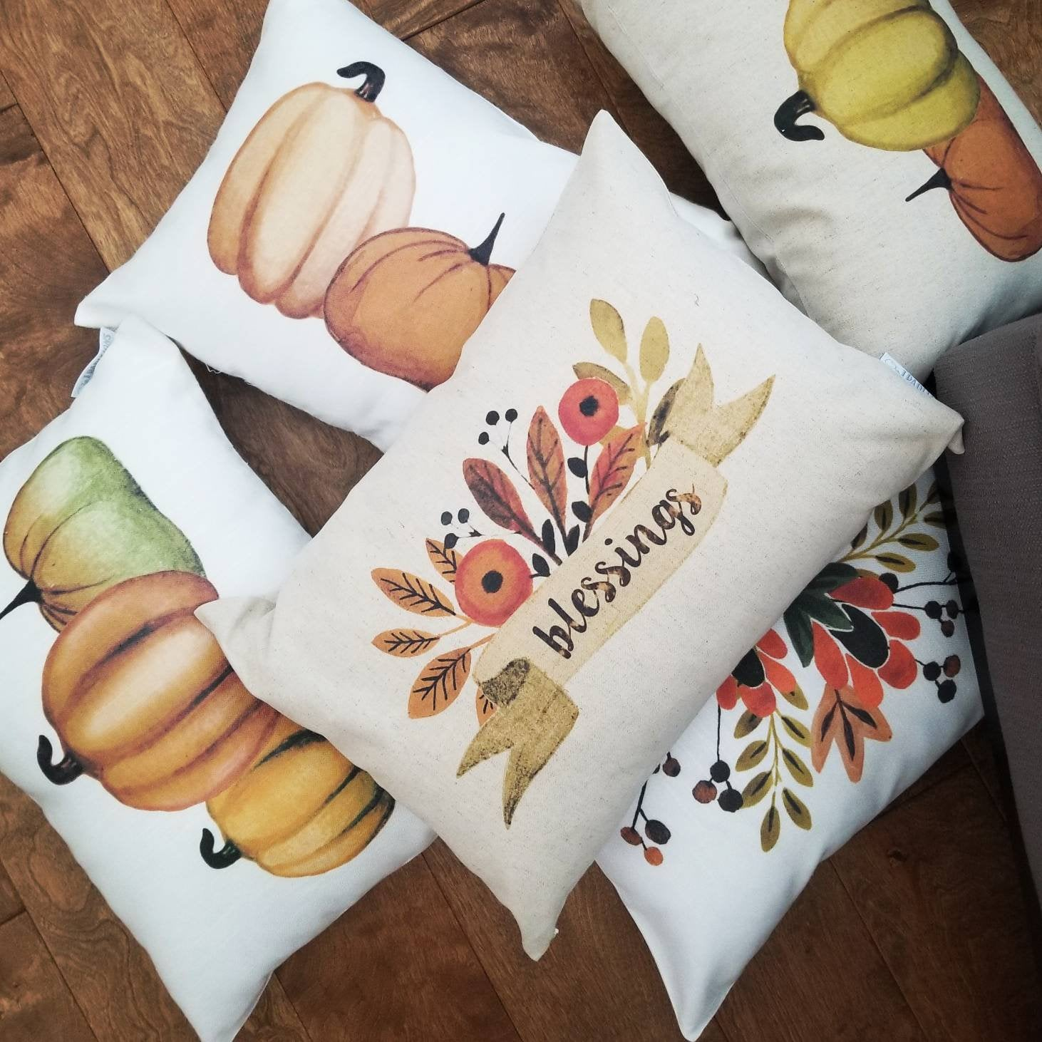 Fall Pillow Cover, pillow cover, Fall Decor, Fall pillow, fall floral