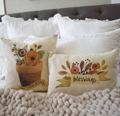 Fall Pillow Cover, blessings, Fall Decor, Fall pillow