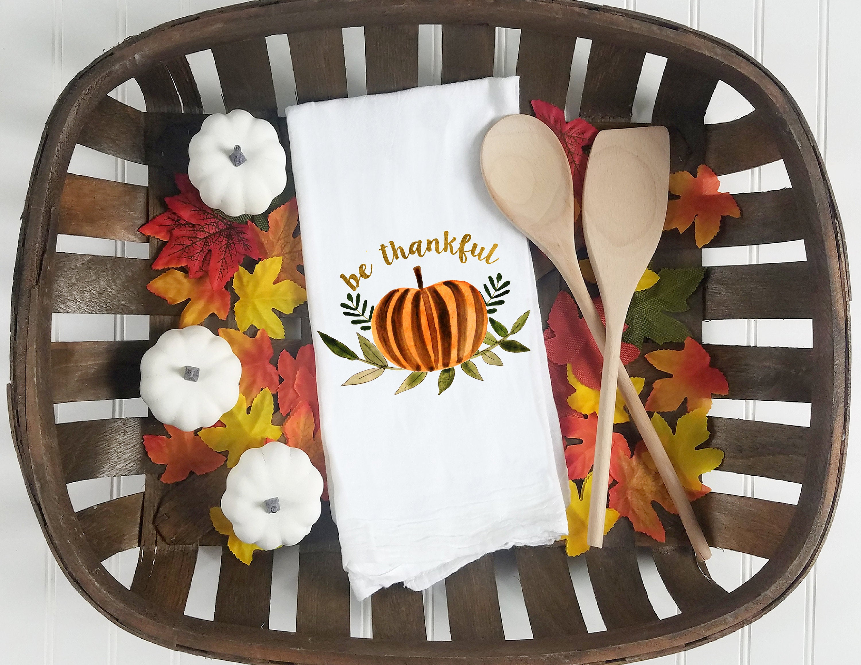 Kitchen towel, tea towel, Fall kitchen towels, Fall Decor, Thanksgiving towel, Thanksgiving  Decor, pumpkin patch, be thankful
