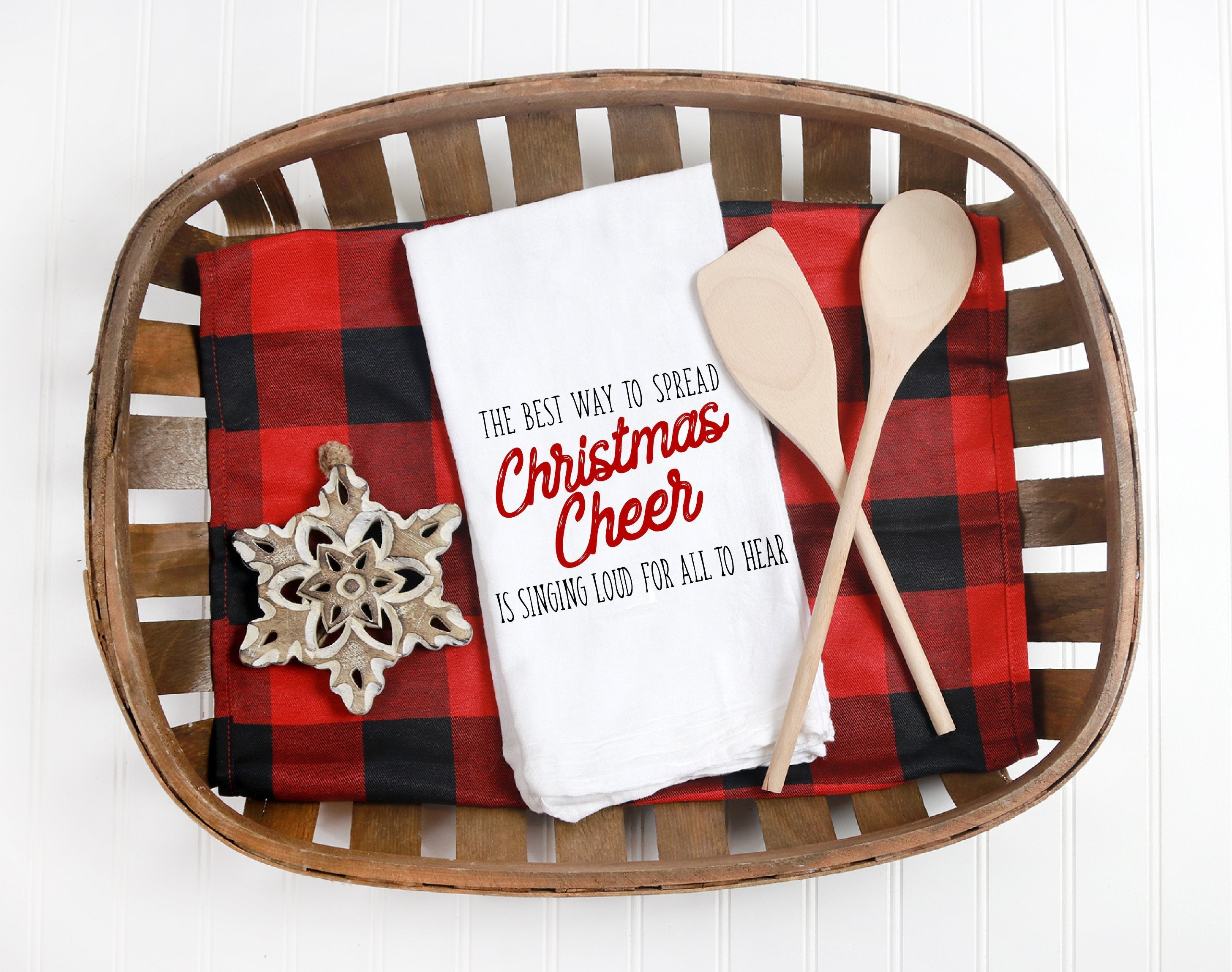 Kitchen towel, dish towel,  tea towel, Christmas kitchen towels, Christmas Decor, Neighbor Christmas Gift,  Decor, Christmas Cheer