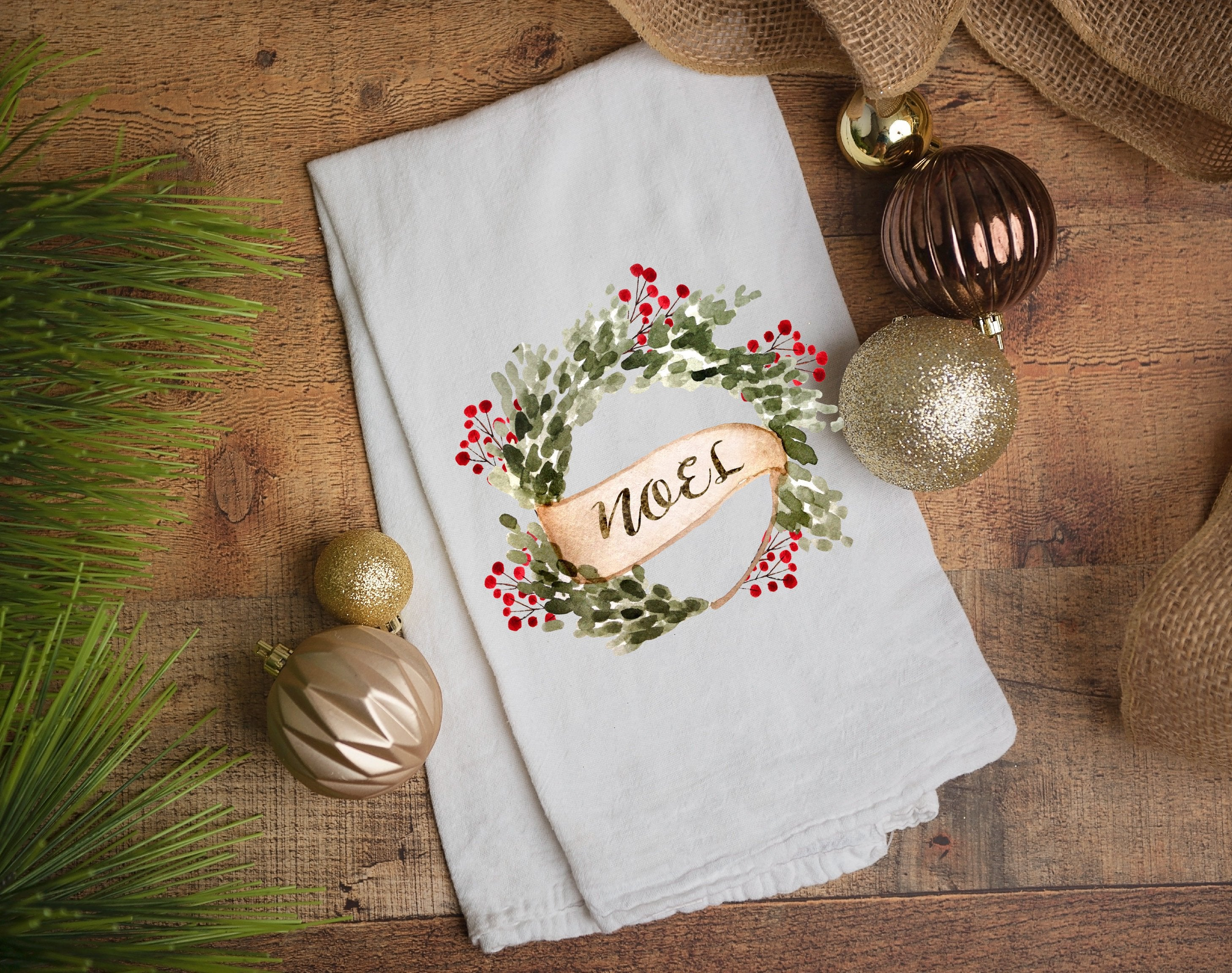 Kitchen towel,tea towel, Christmas kitchen towels, Christmas Decor, Neighbor Christmas Gift,  Decor, merry and bright, noel
