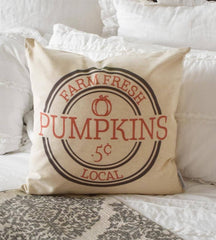 SALE, Fall Pillow Cover, farm fresh pumpkin, pumpkin pillow, Fall Decor, Fall pillow
