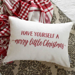 Sale-  Christmas pillow cover, Christmas decor, Merry Little Christmas, Merry Christmas pillow, 14x20