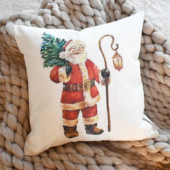 Christmas pillow cover, vintage santa, Christmas decor, Vintage Christmas, farmhouse christmas, santa pillow, Christmas pillow