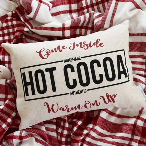 Christmas pillow cover, hit cocoa pillow, Christmas hot cocoa, Merry Christmas Pillow, farmhouse Christmas, Christmas Pillow