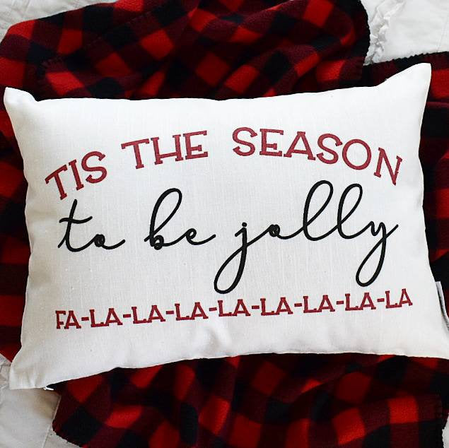 Christmas pillow cover, this the season, falalala Christmas Pillow, buffalo plaid