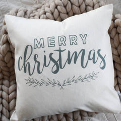 Christmas pillow cover, Merry Christmas Pillow, Christmas decor, Vintage Christmas, farmhouse christmas, grey and white, Christmas pillow