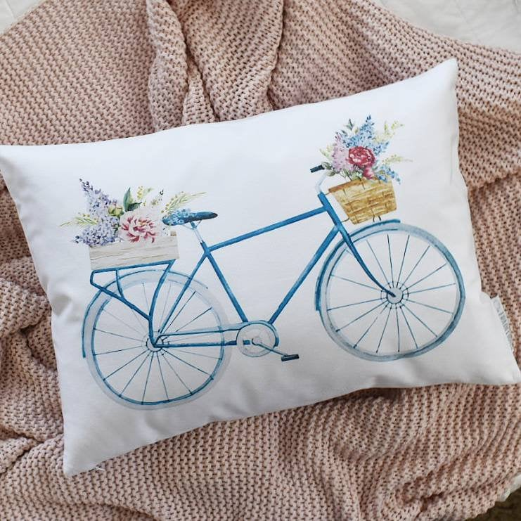 Farmerhouse Pillow, rustic Pillow Cover, Spring pillow cover, 14x20