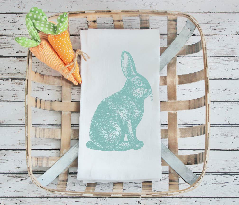 Kitchen towel, tea towel, Easter kitchen towels, Spring Decor, Easter towel, Easter  Decor, Rabbit Kitchen towel, bunny towel