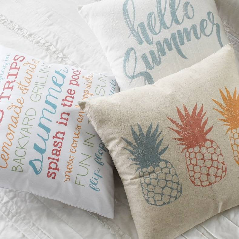 Pineapple pillow, Hello Summer, happy summer, Summer Pillow cover, Summer decor