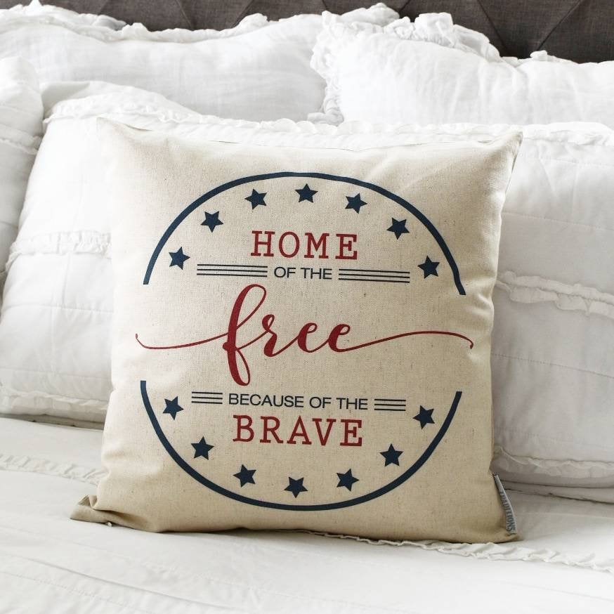Patriotic pillow cover, Americana pillow cover, Memorial Day, Fourth of July, Summer pillow, USA Pillow, flag pillow, American flag pillow