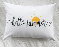 Hello Summer, happy summer, Summer Pillow cover, Summer decor
