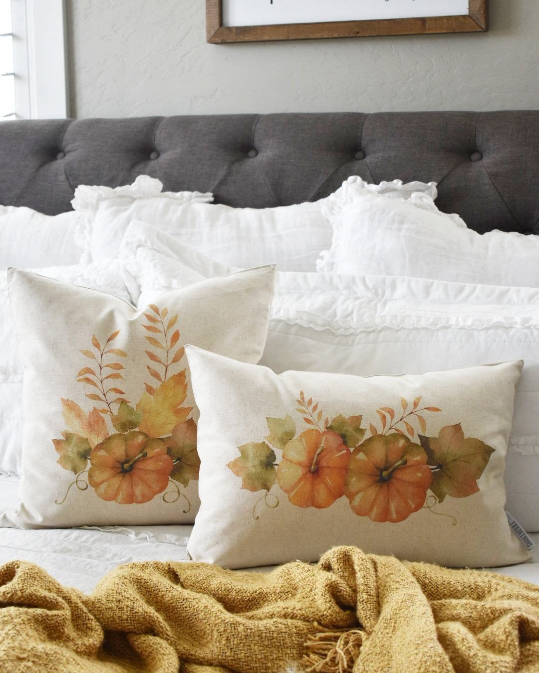 Fall Pillow Cover, farmhouse fall, Fall Decor, Fall pillow, pumpkin pillow