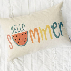 watermelon pillow, pillow cover, Hello Summer, happy summer, Summer Pillow cover, Summer decor