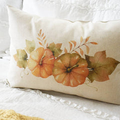 SALE- Fall Pillow Cover, Pumpkin Patch, Fall Decor, Front porch pillow, fall pillow, pumpkin pillow, farm fresh pumpkins, pumpkin wreath