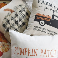 Fall Pillow Cover, plaid pumpkin, Fall plaid Decor, Fall pillow, pumpkin pillow, black and white plaid, buffalo plaid fall