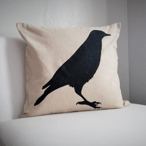 Crow Design Halloween Pillow Cover - Our Traditions Boutique - 2