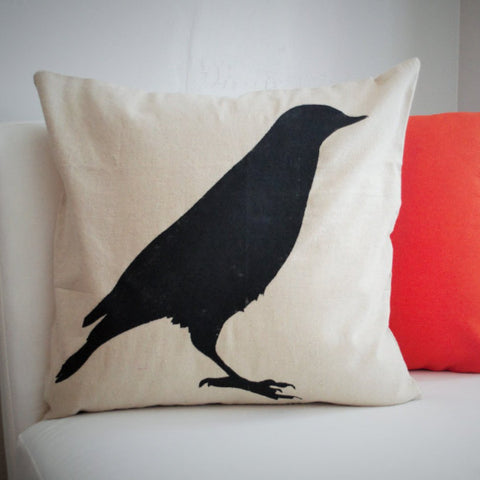 Crow Design Halloween Pillow Cover - Our Traditions Boutique - 1