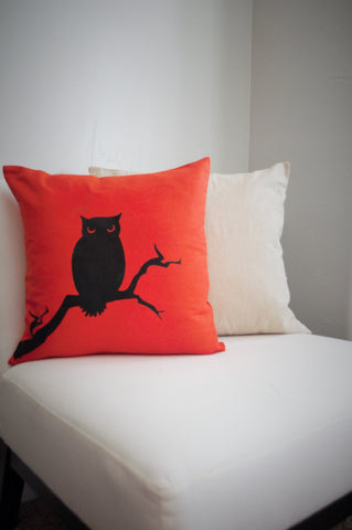 Owl Pillow Cover -Halloween Pillow Cover - Our Traditions Boutique - 1