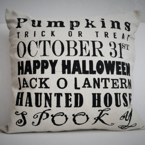 Halloween Subway Art Pillow Cover - Our Traditions Boutique - 2