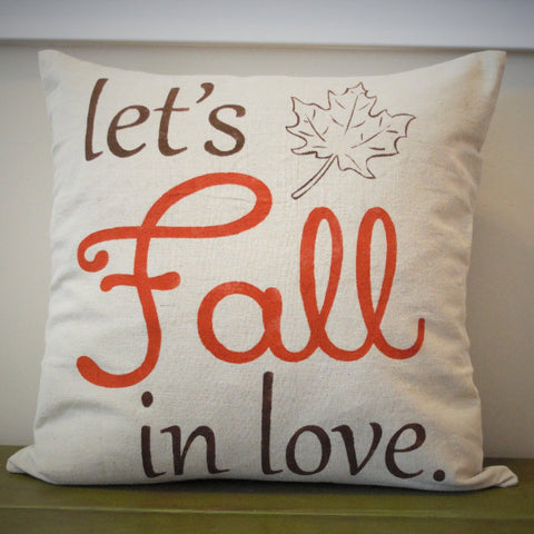 Lets Fall In Love Pillow Cover - Our Traditions Boutique - 2
