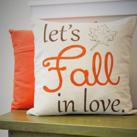 Lets Fall In Love Pillow Cover - Our Traditions Boutique - 1