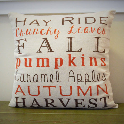 Fall Subway Art Pillow Cover - Our Traditions Boutique - 2