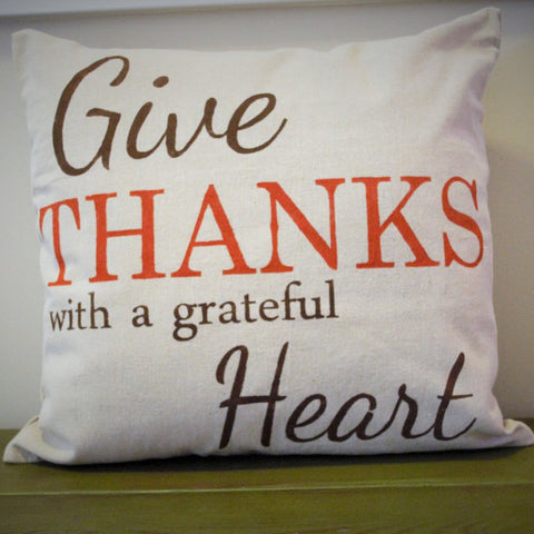 Give Thanks Pillow Cover - Our Traditions Boutique - 2