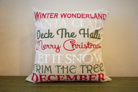Merry Christmas Subway Pillow Cover - Our Traditions Boutique - 2