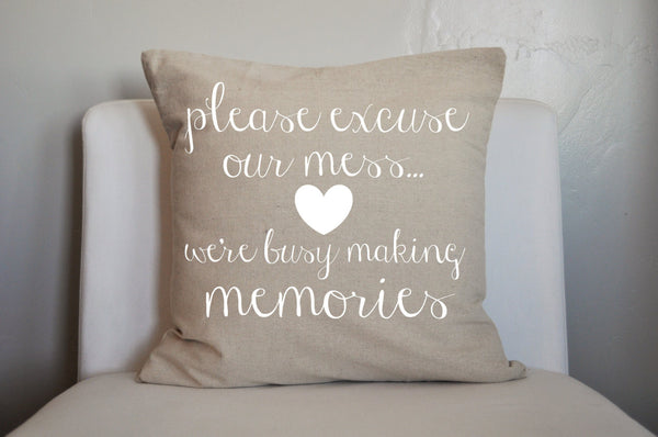 Please excuse our mess pillow cover - Our Traditions Boutique - 4