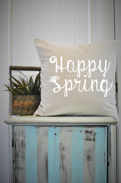 Happy Spring Pillow Cover - Our Traditions Boutique - 1