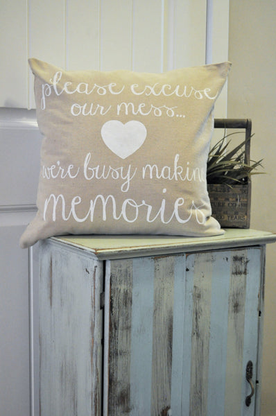 Please excuse our mess pillow cover - Our Traditions Boutique - 1