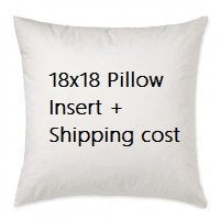 18x18 pillow insert plus extra shipping cost