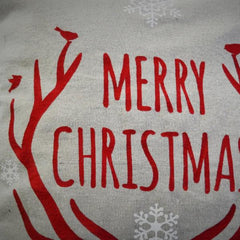 Christmas pillow cover, Merry and Bright, Christmas decor, Deer Antlers, Deer Christmas Pillow, Vintage christmas - Our Traditions Boutique - 5