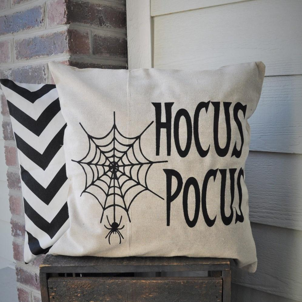 hocus pocus spider web pillow cover – our traditions boutique