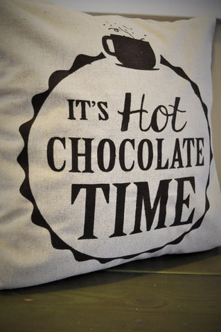 It's Hot Chocolate Time Pillow Cover - Our Traditions Boutique - 2