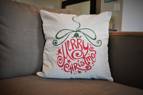 Merry Christmas Ornament Pillow Cover - Christmas Decor - Our Traditions Boutique - 1