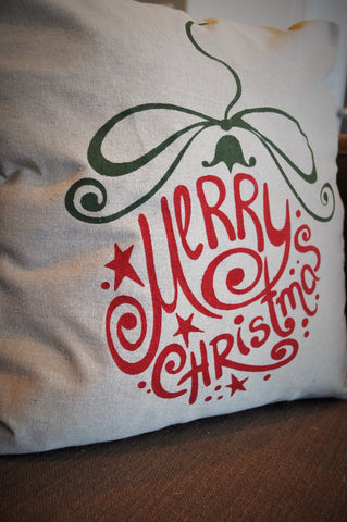 Merry Christmas Ornament Pillow Cover - Christmas Decor - Our Traditions Boutique - 2