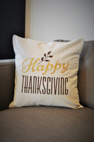 Happy Thanksgiving pillow cover - Our Traditions Boutique - 1