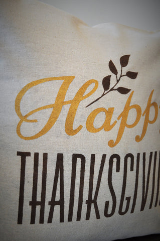 Happy Thanksgiving pillow cover - Our Traditions Boutique - 2