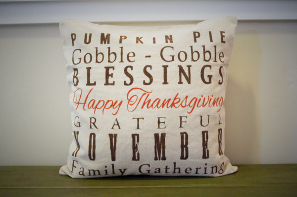 Thanksgiving Subway ary pillow cover - Our Traditions Boutique - 2