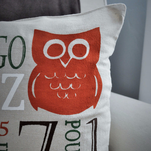 Owl Theme - Personalized birth pillow cover - Our Traditions Boutique - 2